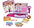 Kid Designs Barbie Shopping Time Cash Register Logo