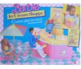 Mattel Barbie Ice Cream Shoppe Playset w Over 50 Pieces (1987 Mattel Hawthorne) Logo