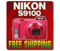 Nikon Coolpix S9100 12.1mp Digital Camera red 26249 Logo