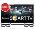 Samsung UN46D6400 46 Inch 3D 1080p Smart TV LED LCD HDTV Bundle