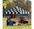 Shelterlogic Shelter Logic 10x10 Open Top Pro Pop-up Canopy Checkered Flag Cover Logo