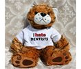 Shopzeus Plush Stuffed Tiger Toy with I Hate Dentists
