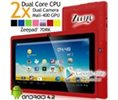 ZEEPAD 7DRK Dual Core 4.2 Red Android Tablet 7 Inch, Multi-Touch, Dual Camera, Wi-Fi May 2014 RED Logo