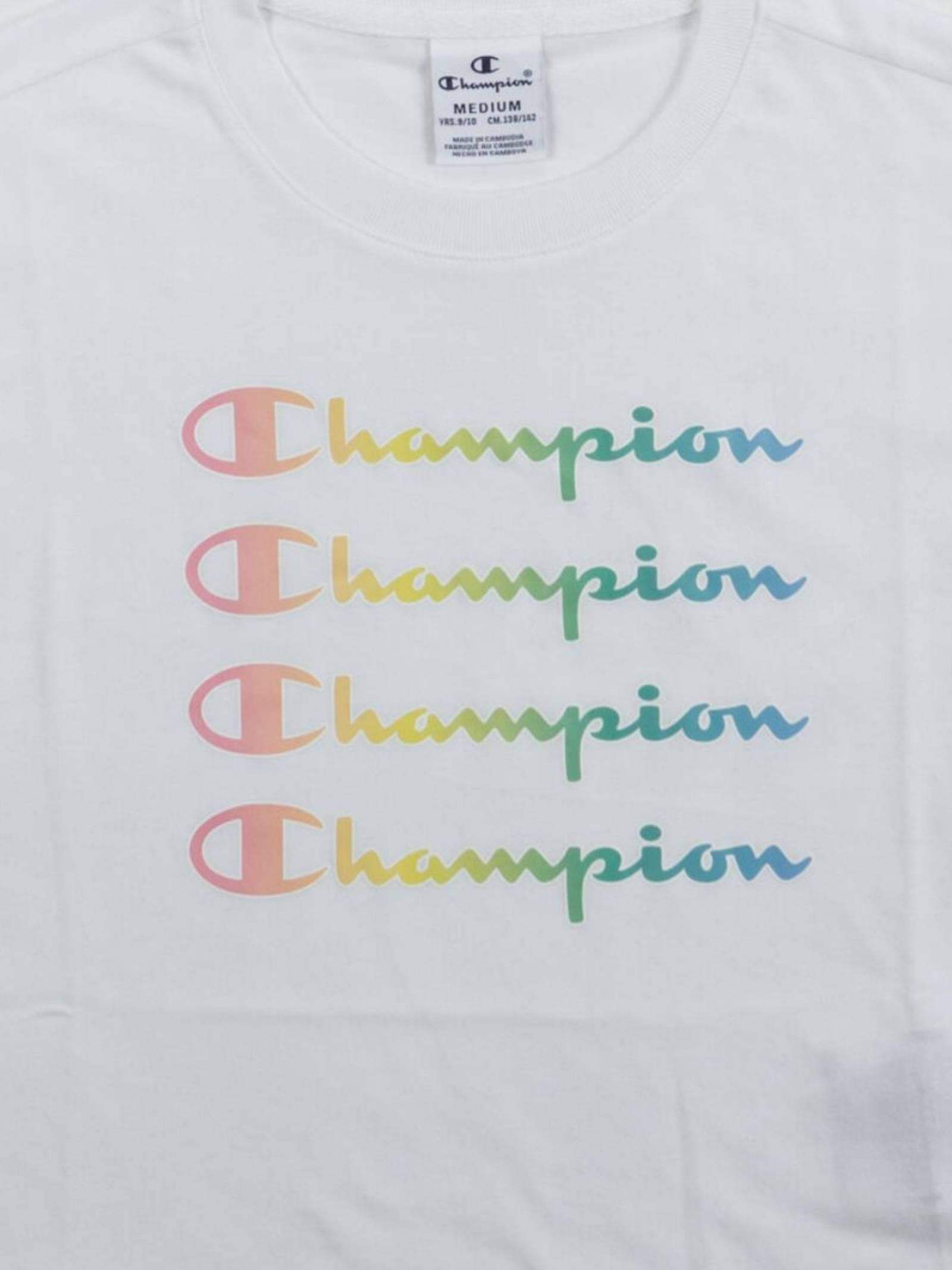 crewneck CHAMPION   T-SHIRT   404132WHITE