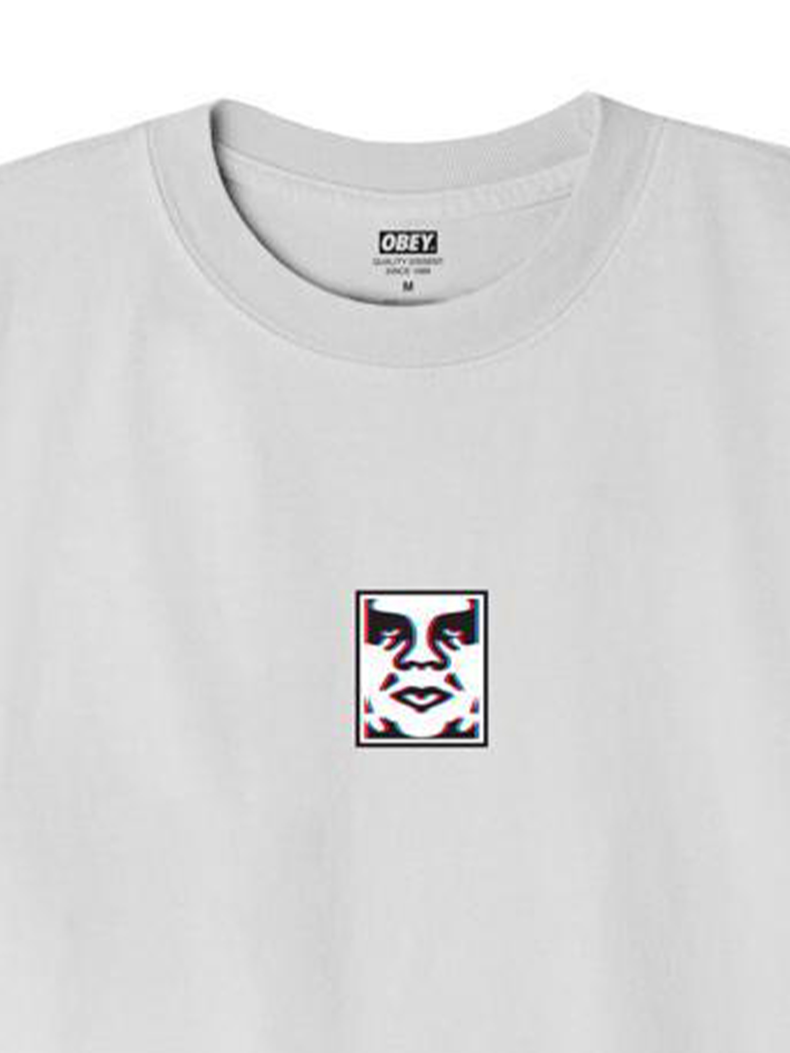 OBEY DOUBLE VISION CLASSIC T-SHIRT UOMO oBEY   T-SHIRT   22121MC000217WHITE