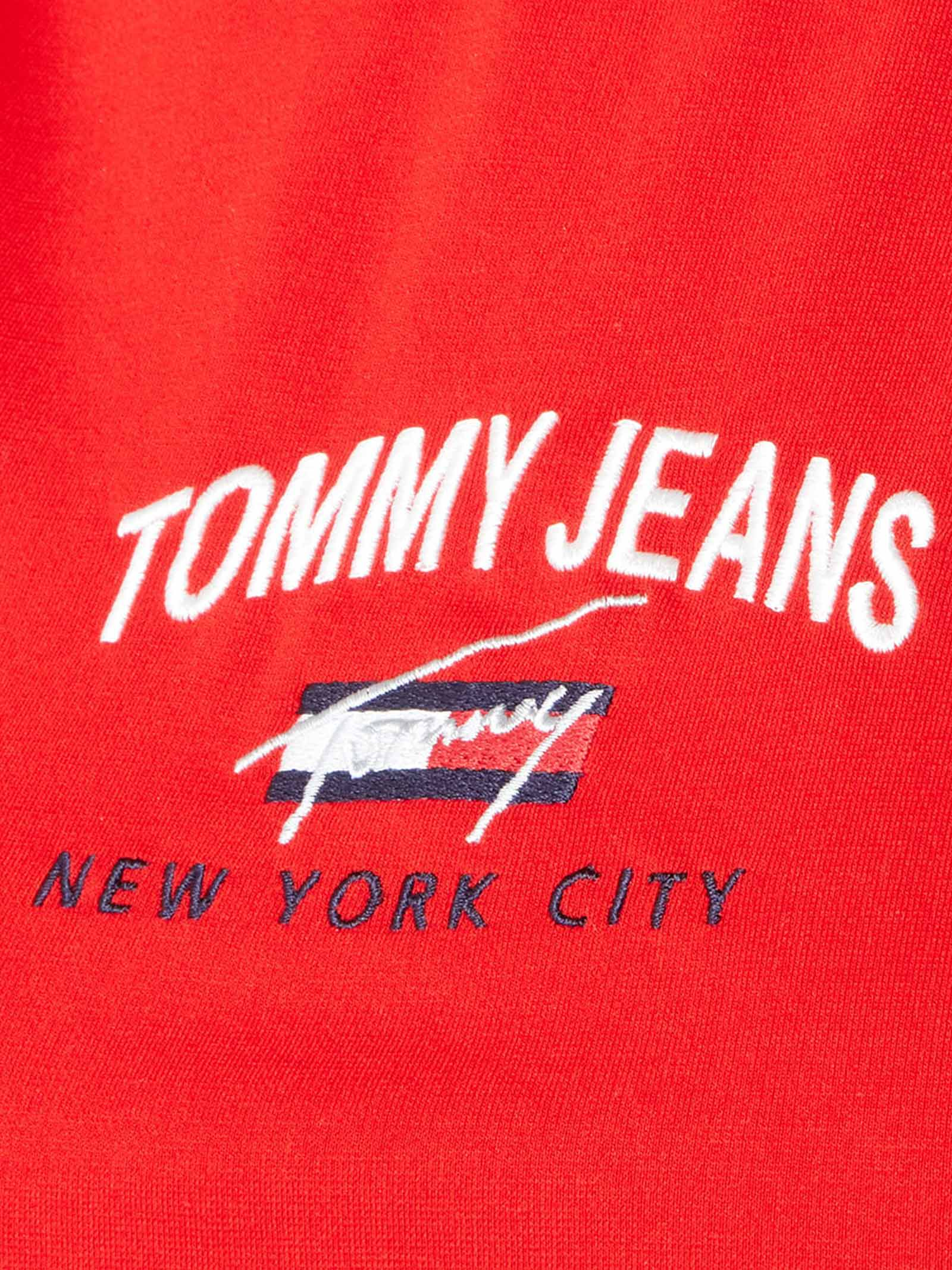 TOMMY JEANS DRESS TIMELESS SCRIPT TOMMY HILFIGER   VESTITINO   DW09936XNL