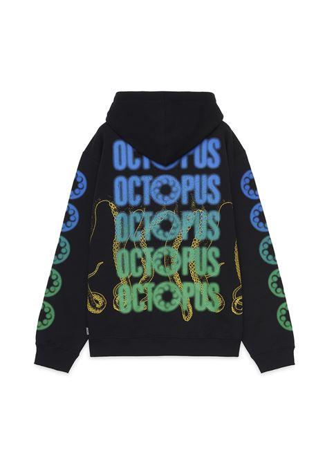 OCTOPUS BLURRED HOODIE octopus | HOODIE | 21WOSH11BLACK