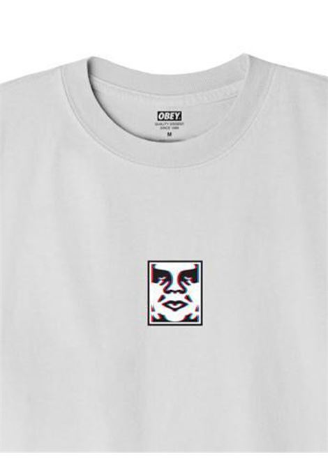 OBEY DOUBLE VISION CLASSIC T-SHIRT UOMO oBEY | T-SHIRT | 22121MC000217WHITE