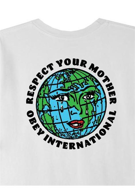 OBEY RESPECT YOUR MOTHER T-SHIRT UOMO oBEY | T-SHIRT | 22121MC000233WHITE