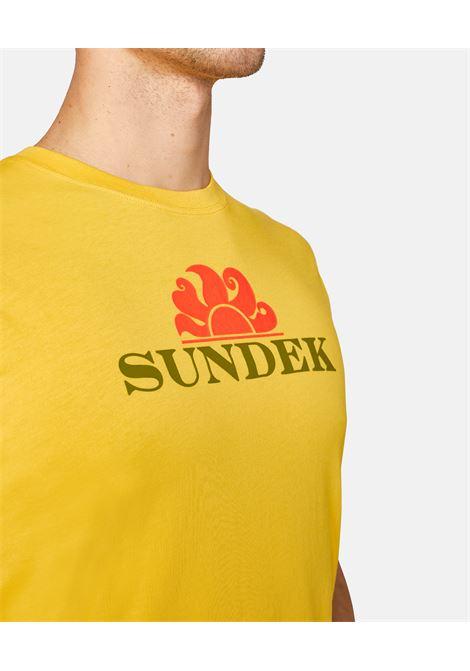team logo tee SUNDEK | T-SHIRT | M068TEJ700YELLOW