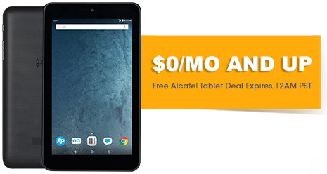 free tablet 100 free data service on freedompop 4g lte