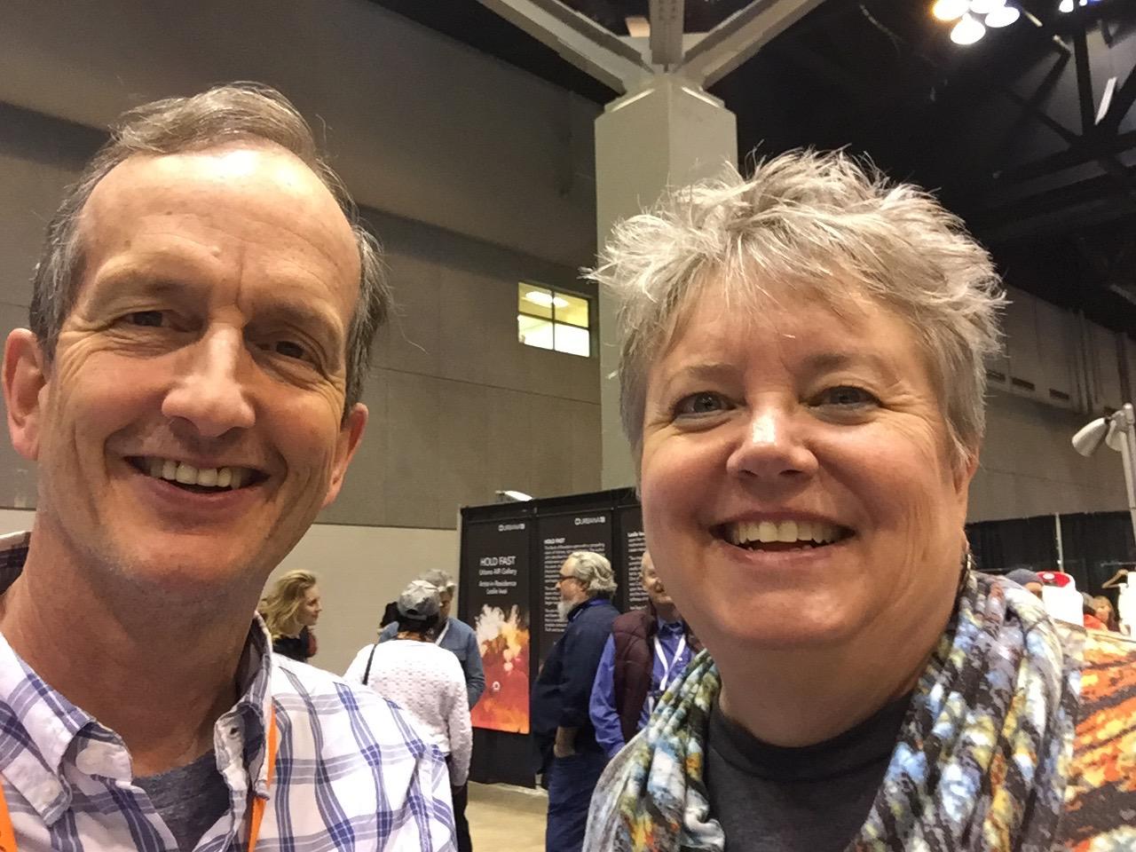 Greg with Ruth Hubbard (Urbana Director)