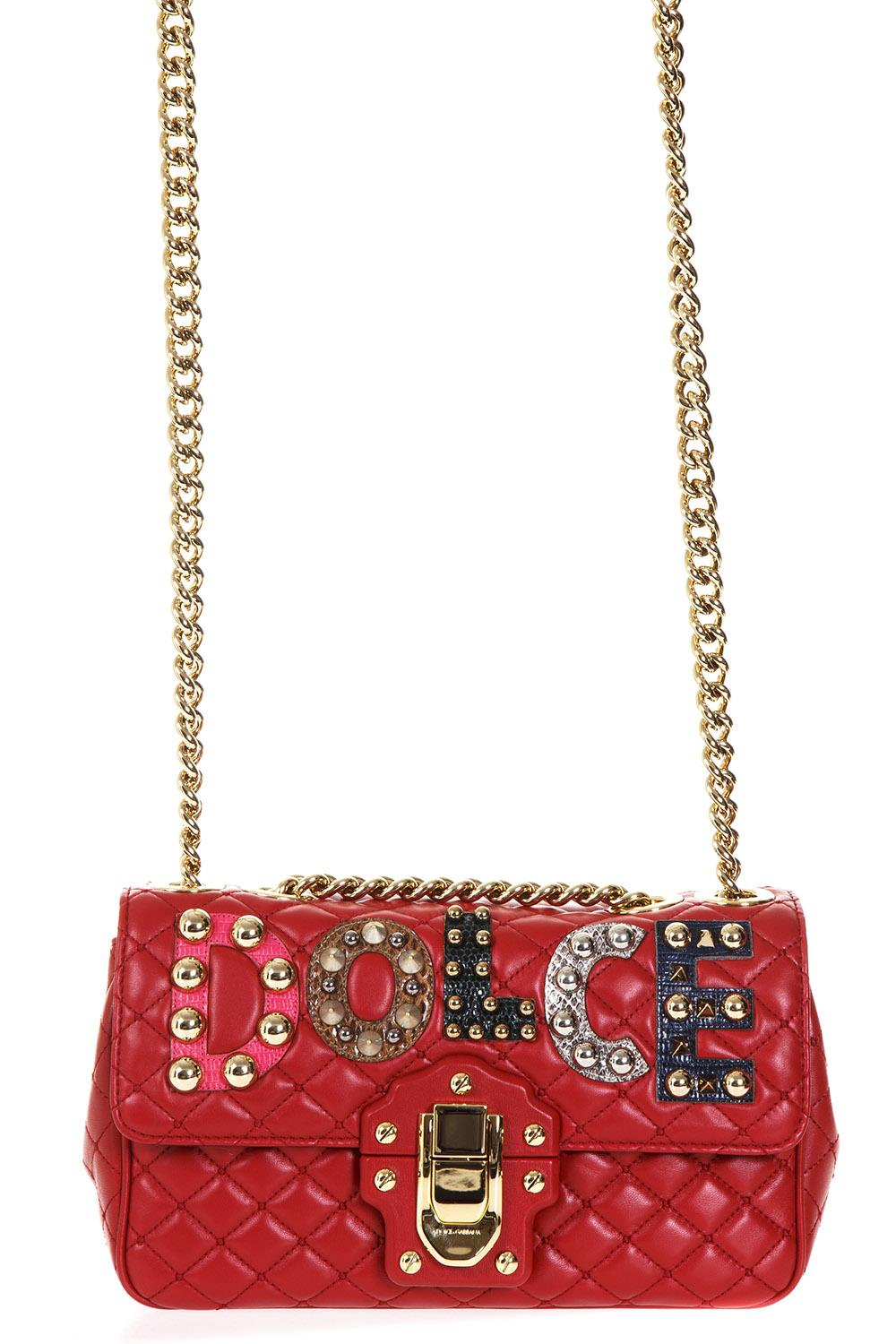 5a462e4601 QUILTED LEATHER LUCIA SHOULDER BAG WITH PATCH FW17 - DOLCE   GABBANA -  Boutique Galiano