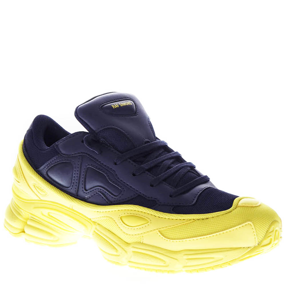 bfef7e15879ee2 RS OZWEEGO YELLOW   NAVY BLUE LEATHER SNEAKERS FW 2018 - ADIDAS BY ...