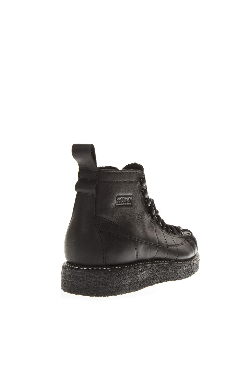 reputable site 8b6c4 a4f0e SST LUXE BLACK LòATHER SNEAKERS. ADIDAS ORIGINALS