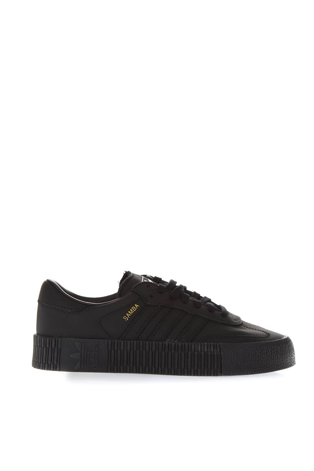 8968aaa68330 SAMBA BLACK LEATHER SNEAKERS FW 2018 - ADIDAS ORIGINALS - Boutique Galiano