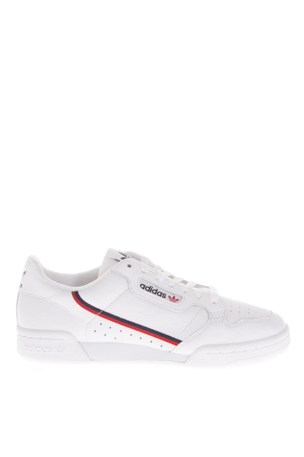 17f9233ac45a9 CONTINENTAL 80 WHITE LEATHER SNEAKERS FW 2018 - ADIDAS ORIGINALS - Boutique  Galiano