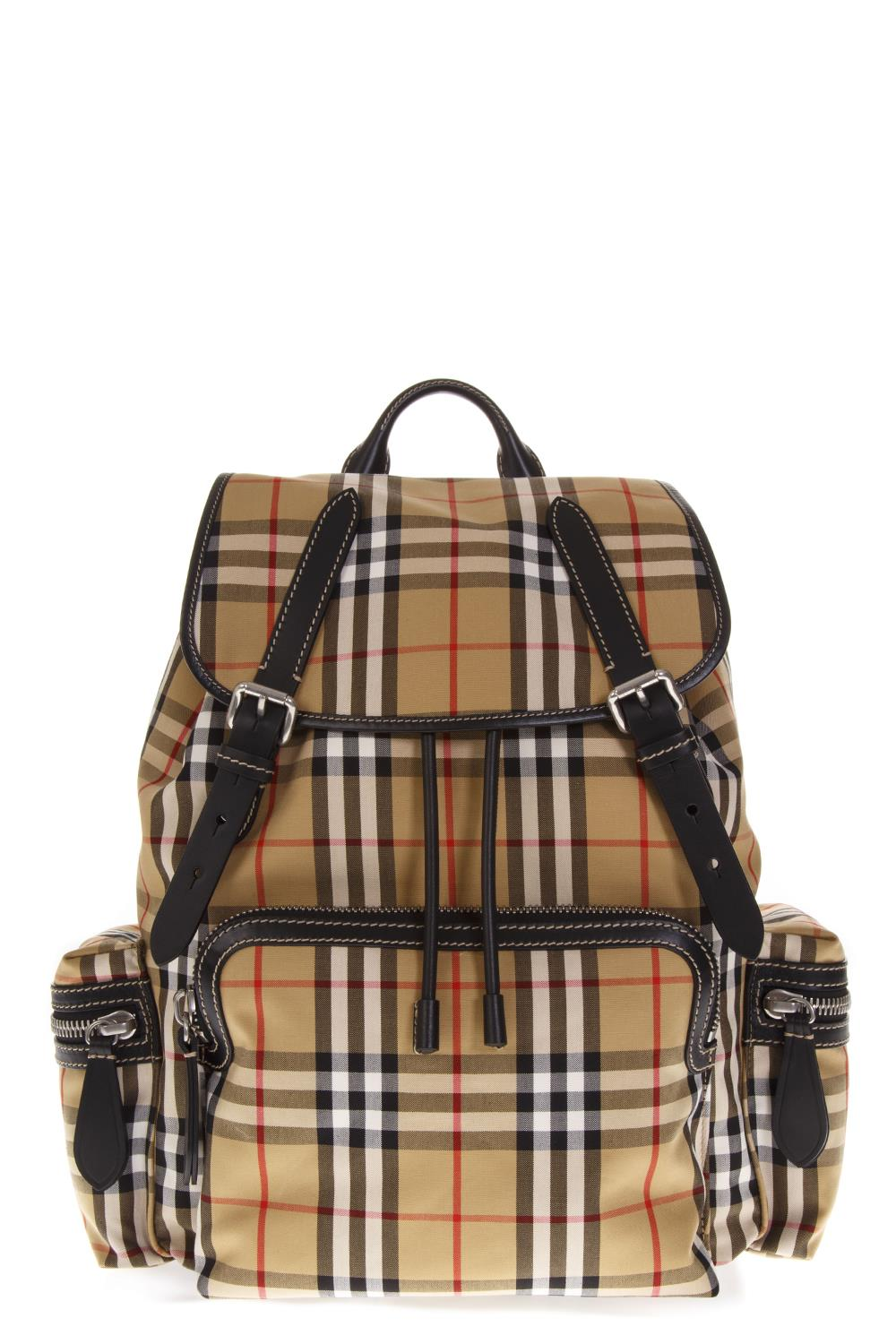 5f47b1c8b438 RUCKSAC YELLOW NYLON BACKPACK WITH CHECK HOUSE FW 2018 - BURBERRY -  Boutique Galiano