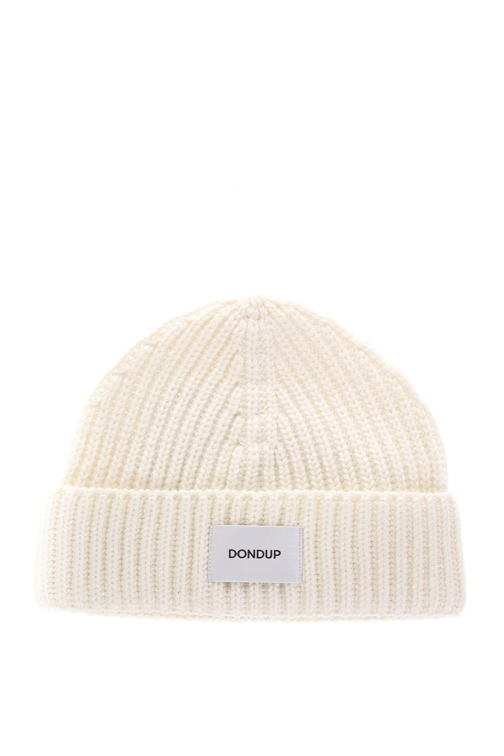 77f364cd196 WHITE RIBBED WOOL HAT FW 2018 - DONDUP - Boutique Galiano