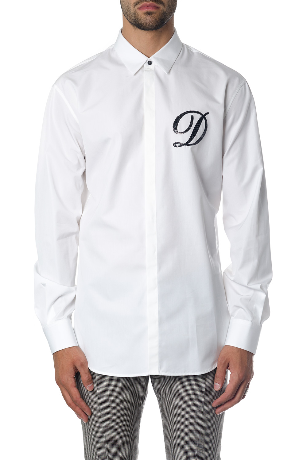 bcf8cde20a5 WHITE COTTON SHIRT WITH LOGO FW 2018 - DSQUARED2 - Boutique Galiano