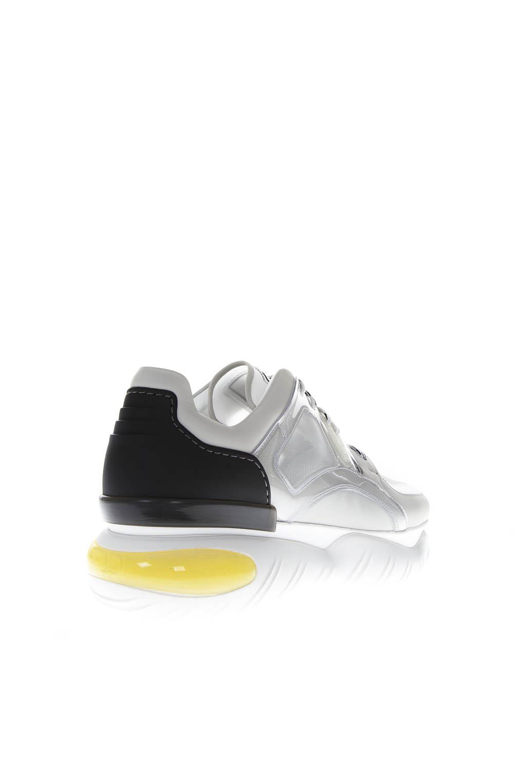 half off d31f3 67ef0 WHITE/BLACK TECHNICAL MESH AND LEATHER SNEAKERS FW 2018