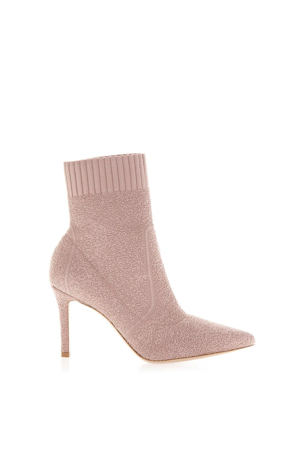 b357af94c76 FIONA PINK STRETCH KNIT ANKLE BOOTS FW 2018