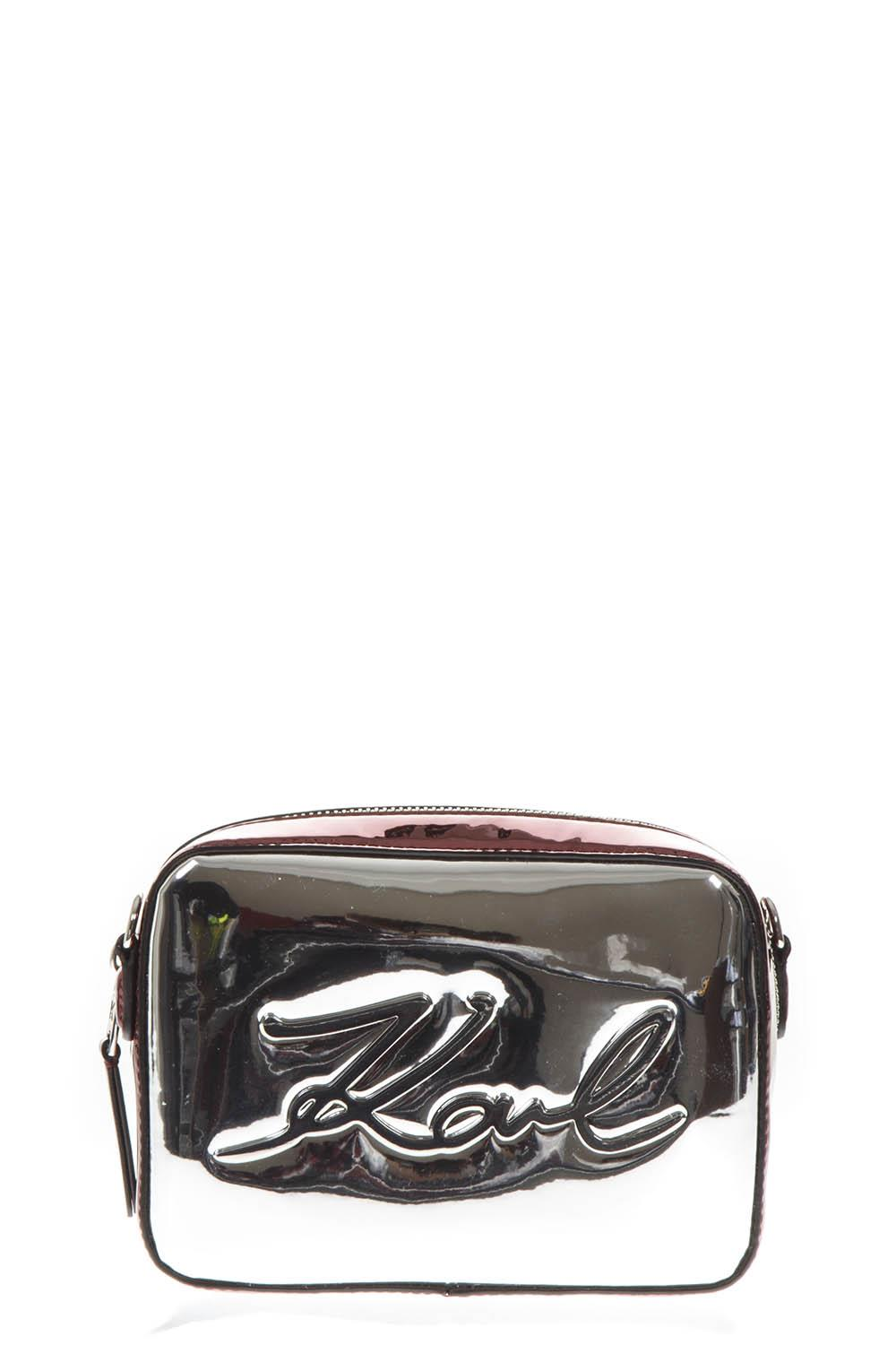 MIXED LAMINATED FABRIC LOGO SMALL BAG FW 2018 - KARL LAGERFELD - Boutique  Galiano c1b93ad6360c4