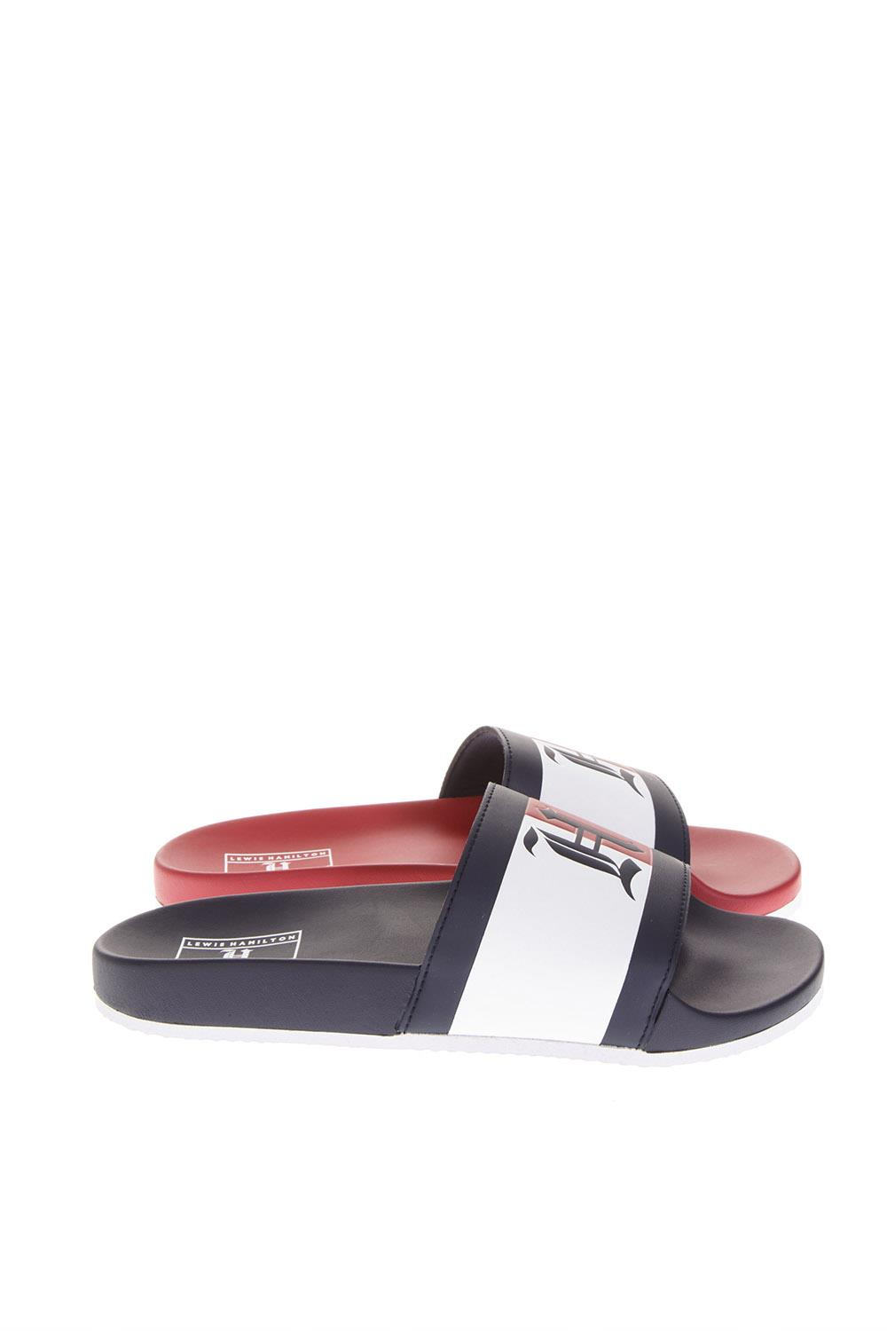 1923a3aa04e2b7 LEWIS HAMILTON TWO COLOR FAUX LEATHER SLIPPER FW 2018 - HILFIGER COLLECTION  - Boutique Galiano