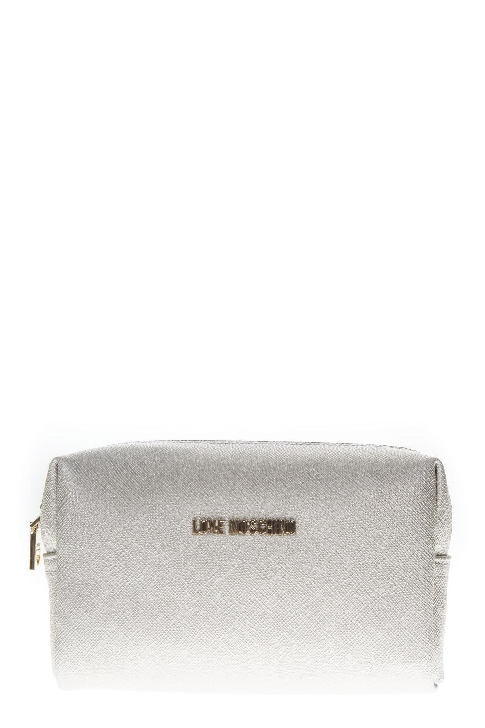 327a18553c4816 WHITE FAUX LEATHER ZIPPED PURSE FW 2018 - LOVE MOSCHINO - Boutique Galiano
