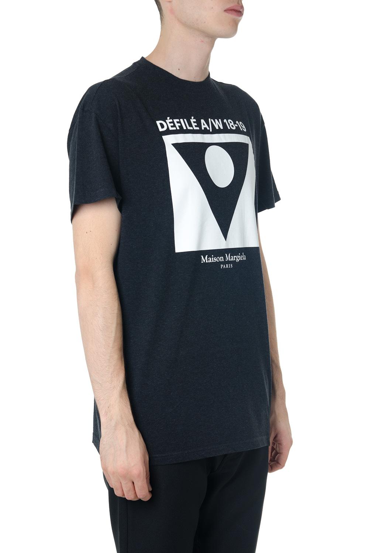 T Shirt In Cotone Nero Con Stampa Ai 2018 Maison Margiela