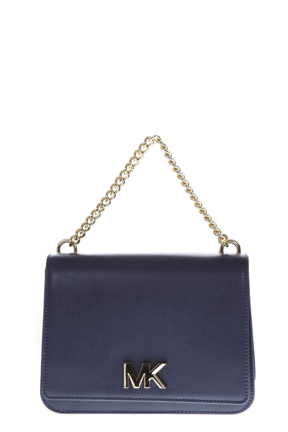 f7b6cd158449 BLUE LEATHER SHOULDER BAG FW 2018 - MICHAEL MICHAEL KORS - Boutique Galiano