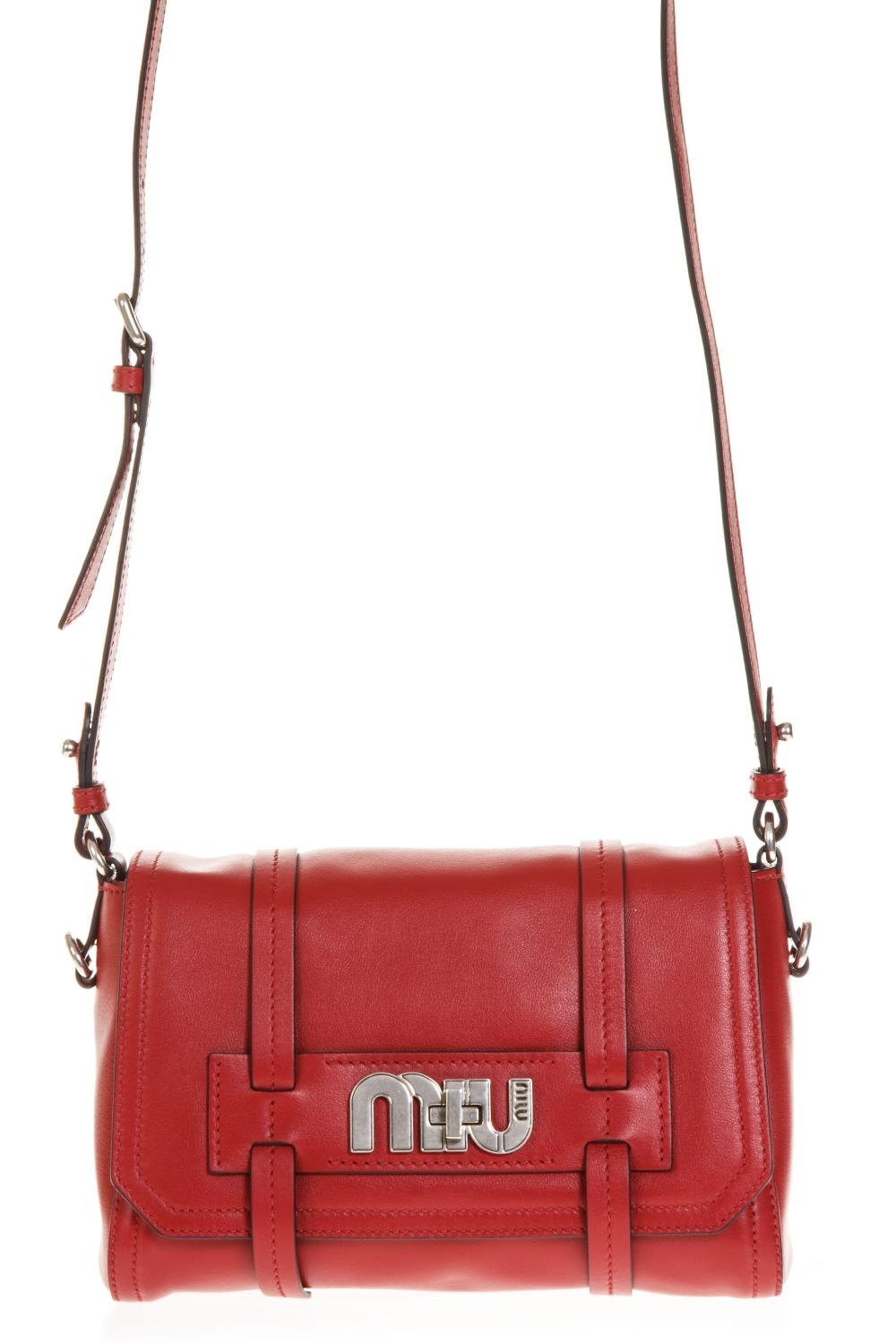 RED LEATHER SHOULDER BAG FW 2018 - MIU MIU - Boutique Galiano b08849300f705