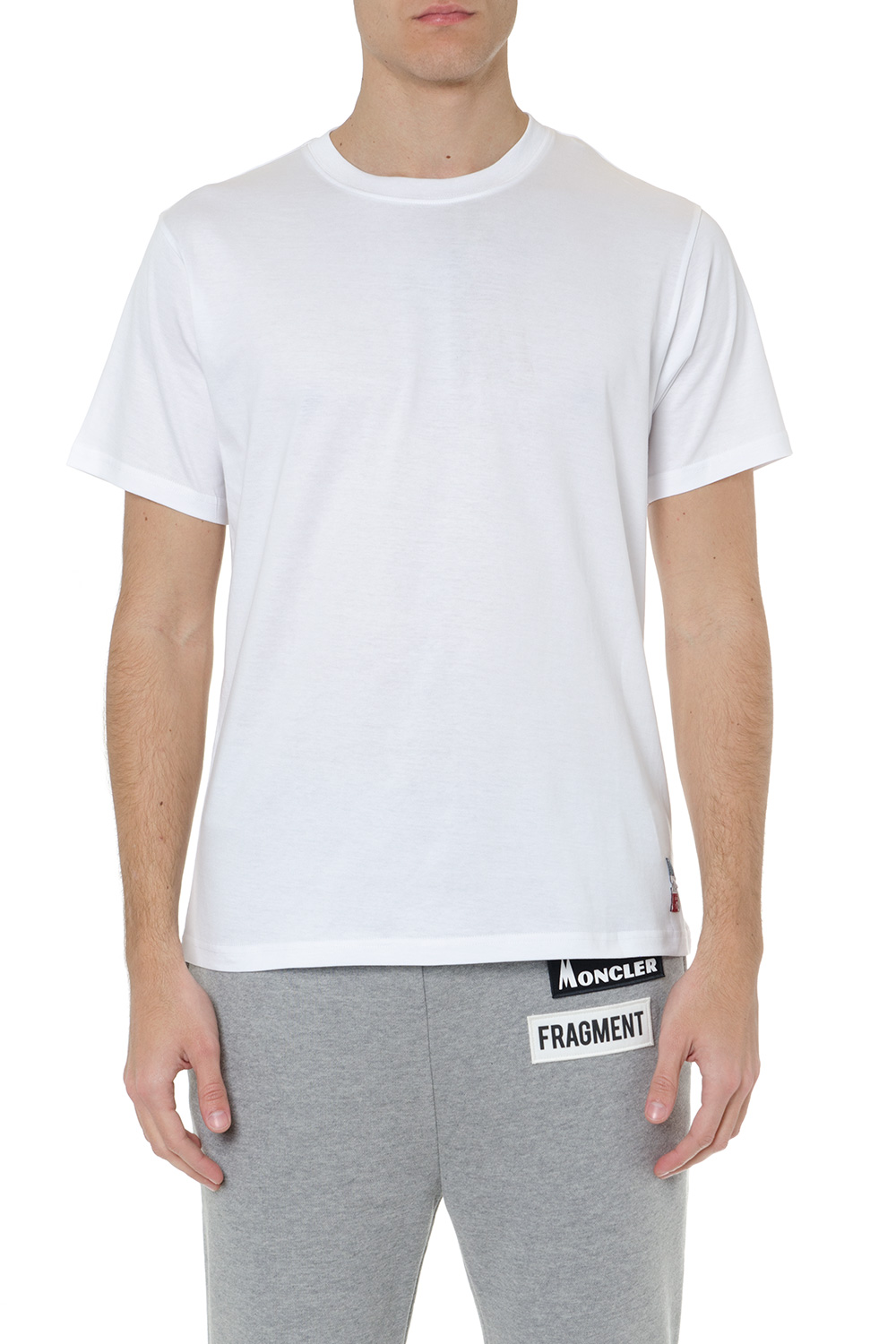 f7a0d6f8 WHITE COTTON T-SHIRT SS 2019 - MONCLER GENIUS - Boutique Galiano