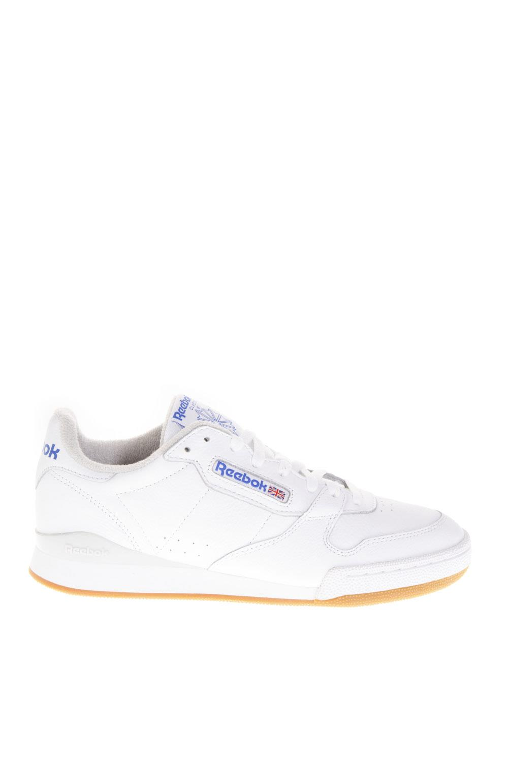 5ddbfdd759832 PHASE 1 MU WHITE LEATHER SNEAKERS FW 2018 - REEBOK - Boutique Galiano