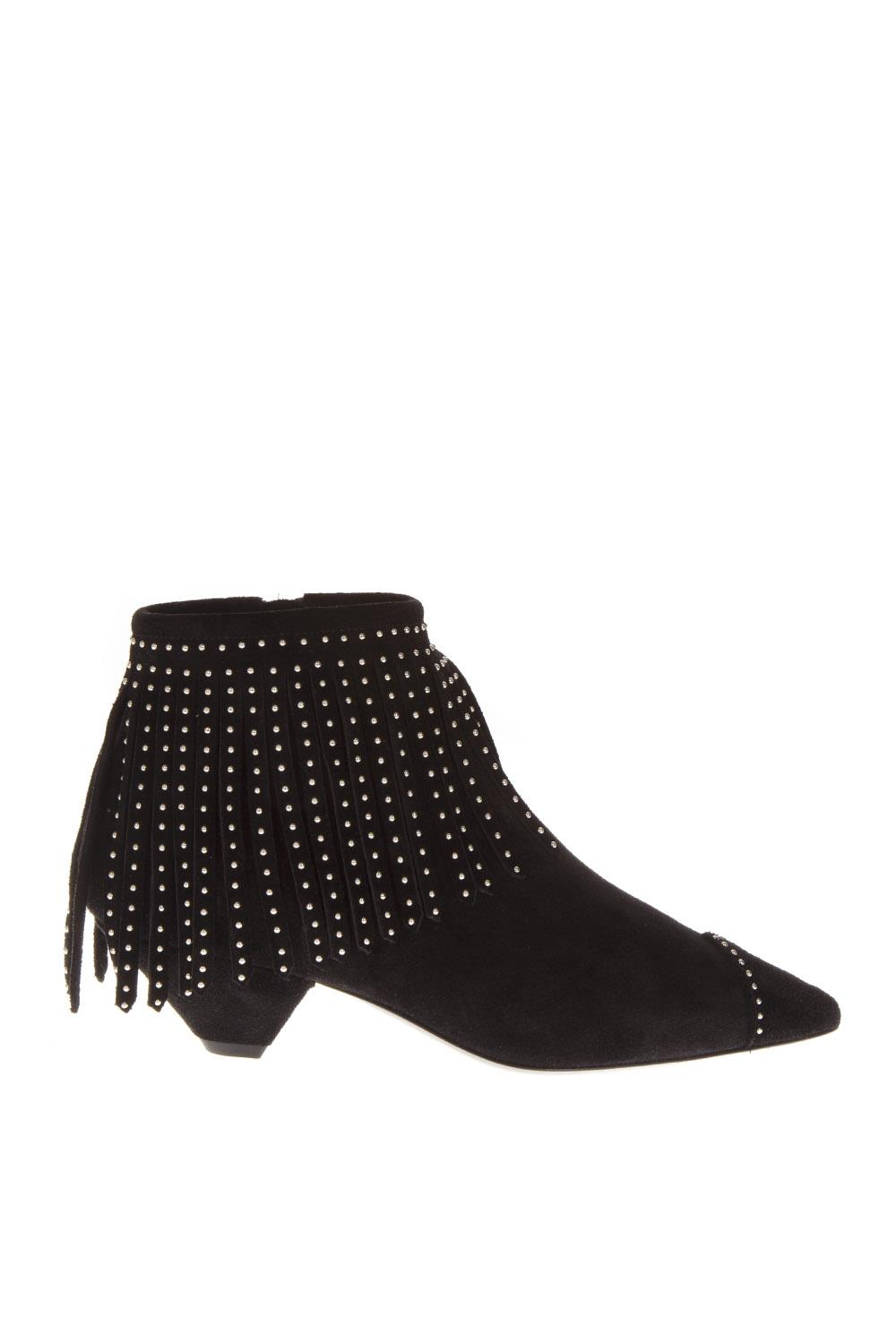 Blaze Suede Laurent Fringed 45 2018 Fw Boots Black Saint Ankle rWrB6FU
