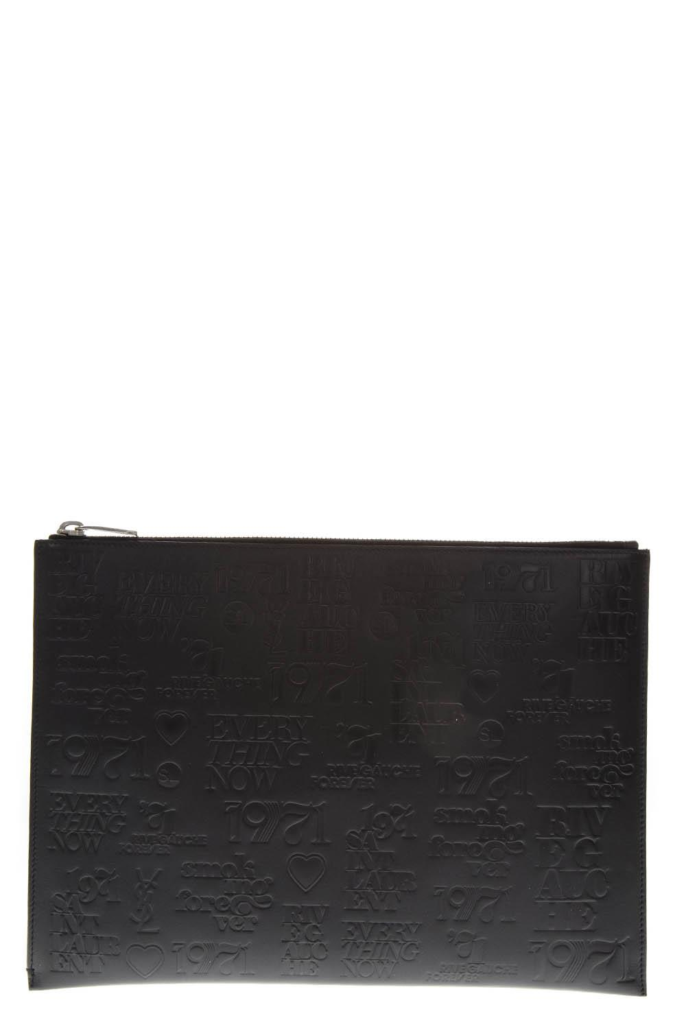 e0ac5a1dd4 TABLET HOLDER IN BLACK PRINTED LEATHER FW 2018