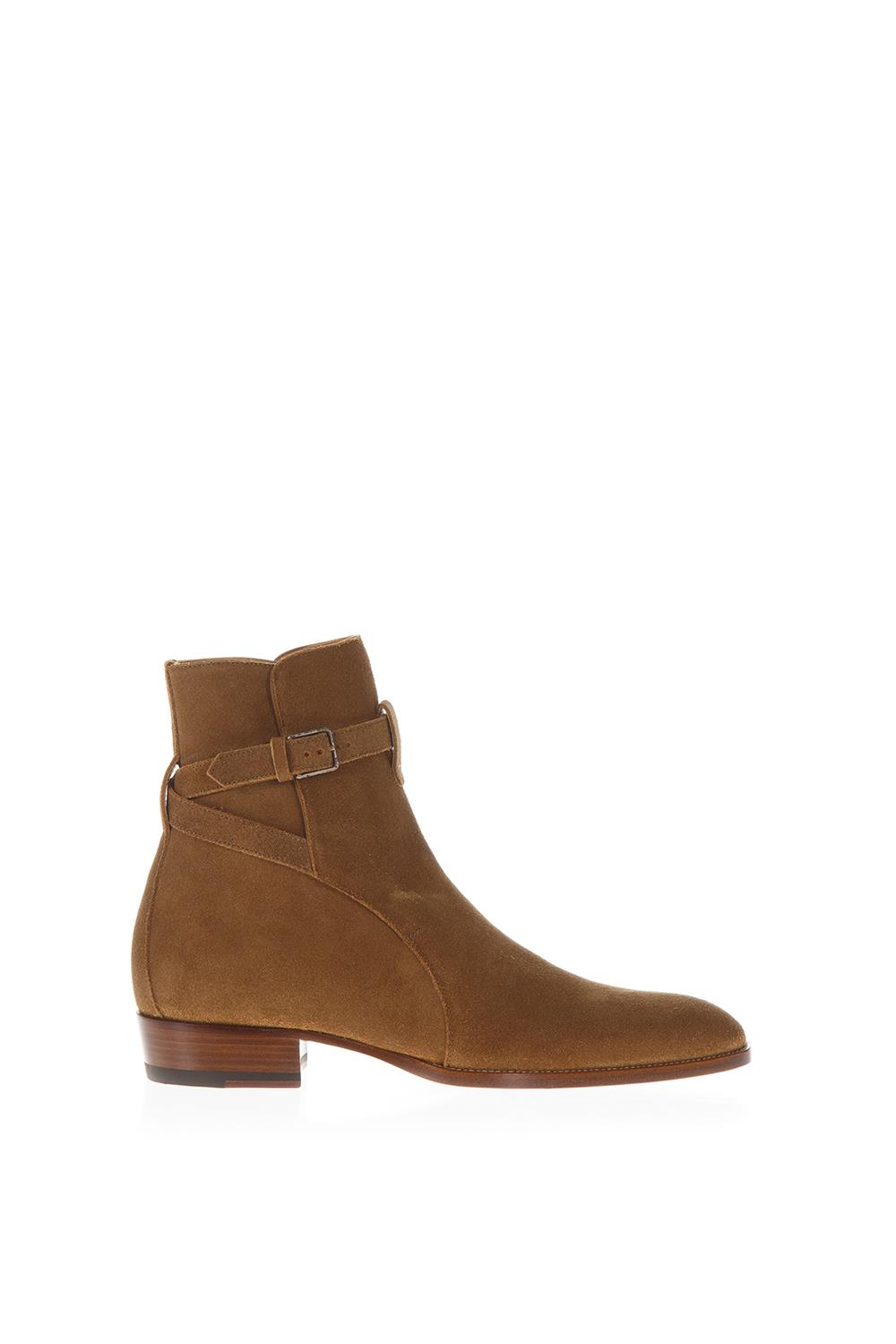 820064d1530c9 WYATT 30 LIGHT BROWN SUEDE ANKLE BOOTS FW 2018 2019 - SAINT LAURENT -  Boutique Galiano
