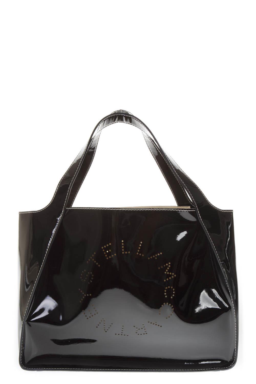 83c10fd194 BLACK POLYAMIDE HOLES LOGO BAG FW 2018 - STELLA McCARTNEY - Boutique Galiano