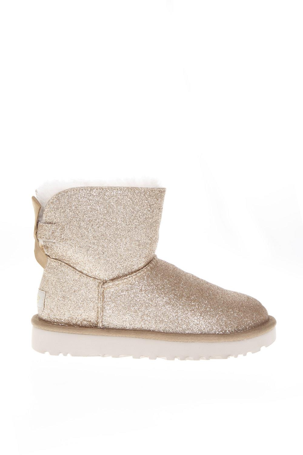 enorme sconto 589bf d9724 GOLD SHEEP LEATHER MINI BAILEY SPARKLE BOOTS FW 2018