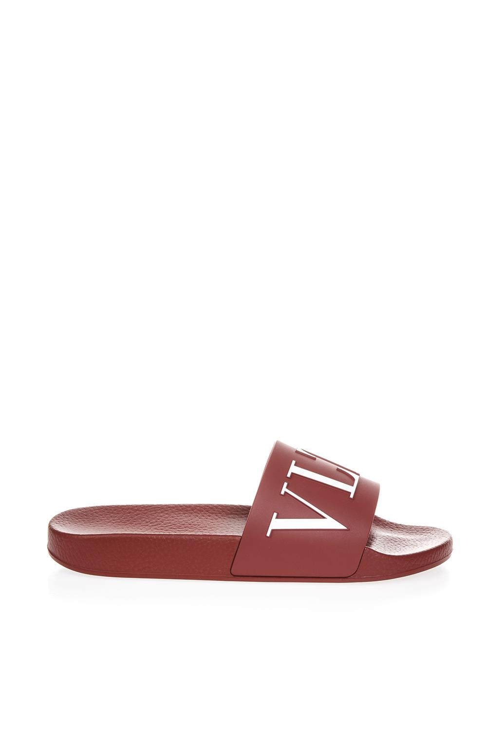 461b5ab3a485 RUBY RUBBER SLIDE SANDALS WITH VLTN FW 2018 - VALENTINO GARAVANI - Boutique  Galiano