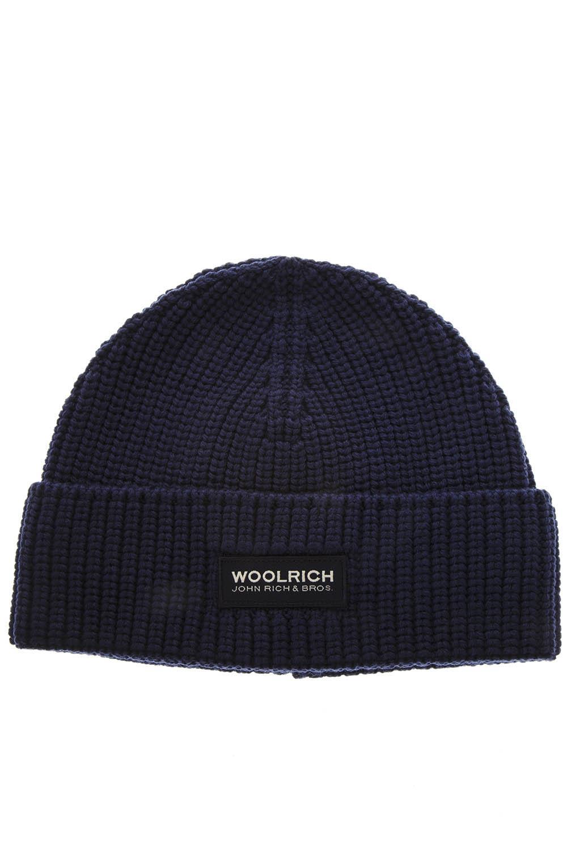 CAPPELLO DI LANA BLU AI 2018 - WOOLRICH - Boutique Galiano fbb771c9549d