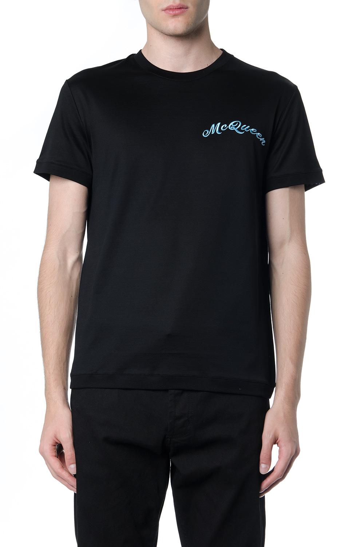 6ba5d22a36 BLACK COTTON LOGO T-SHIRT FW 2019 - ALEXANDER McQUEEN - Boutique Galiano