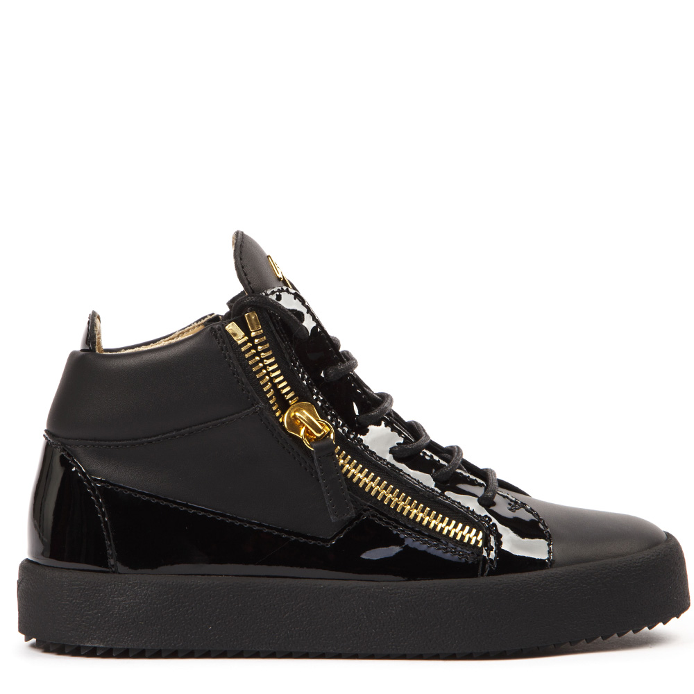 21c971f1a5d14 BLACK LEATHER KRISS HI-TOP SNEAKERS FW 2019 - GIUSEPPE ZANOTTI - Boutique  Galiano