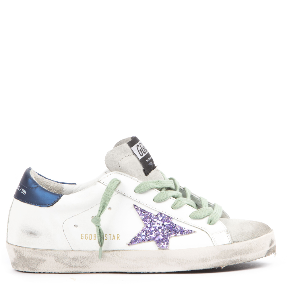 e59cb7fcafe WHITE AND BLUE LEATHER SUPERSTAR SNEAKERS FW 2019 - GOLDEN GOOSE DELUXE  BRAND - Boutique Galiano