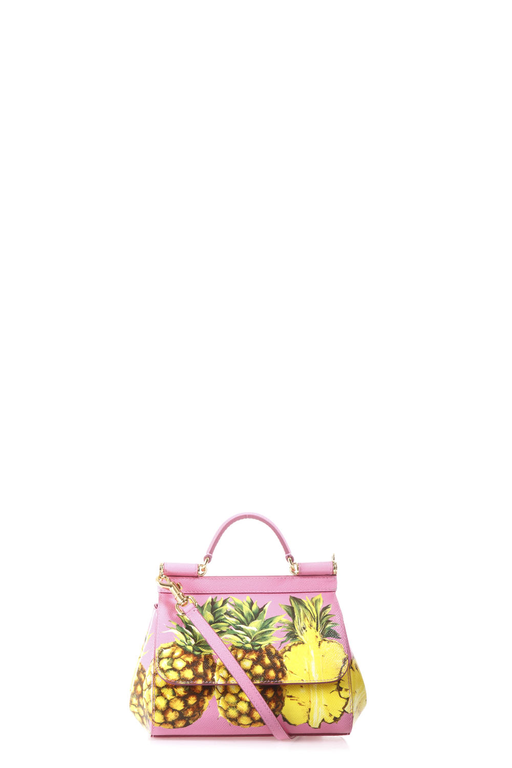 MINI SICILY PINEAPPLES LEATHER BAG - DOLCE   GABBANA - Boutique Galiano 59c51ec26a