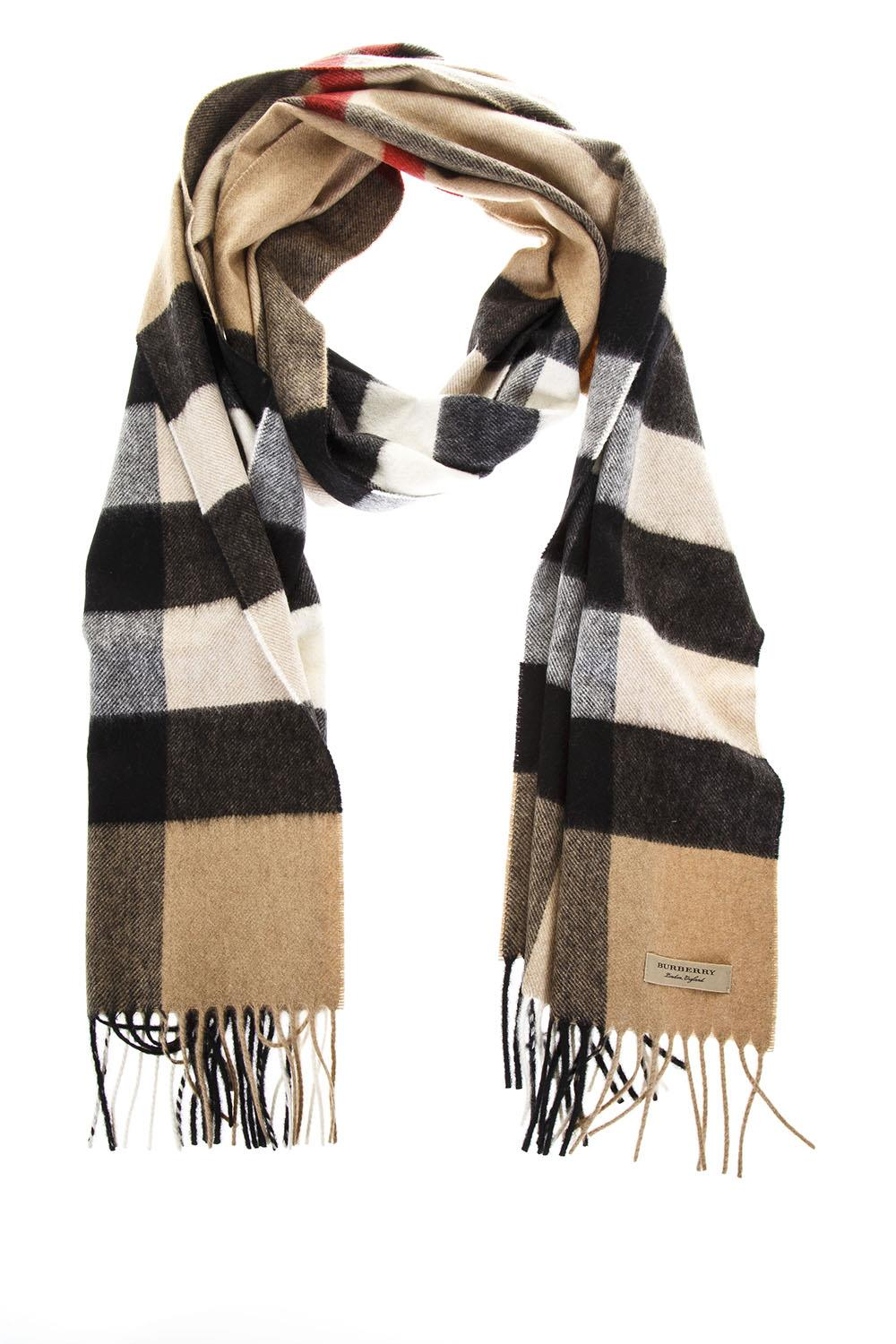 b7784375a001e ... inexpensive camel classic fringed scarf in cashmere ss 2018 burberry  boutique galiano d88a2 14d0a