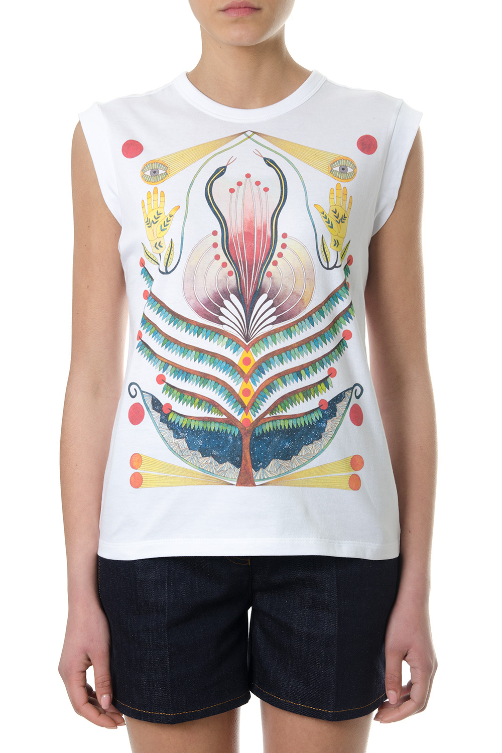 Store Cheap Price 2018 For Sale Printed cotton T-shirt Chlo Discount Extremely Clearance Footlocker Finishline Kz2ex