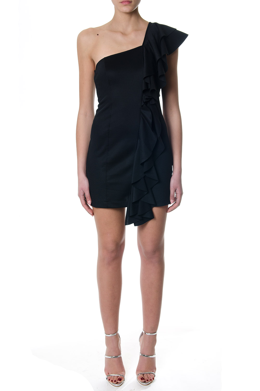 2018 With Detail Black Frill Mini Ss Boutique Dress Galiano Dondup SI11YE