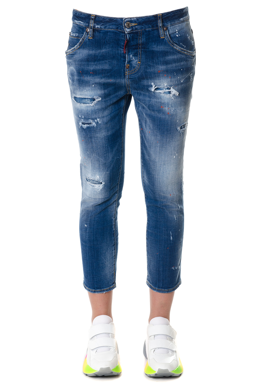 0484bc311cb Cool girl cropped jeans SS 2018 - DSQUARED2 - Boutique Galiano