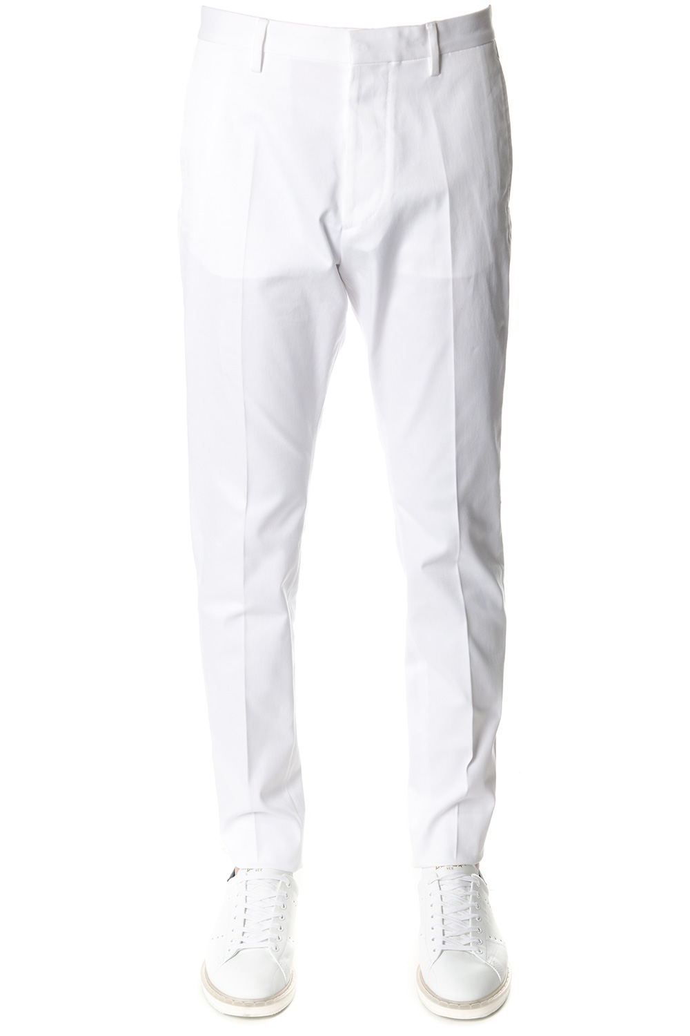 7183306d659 WHITE COTTON TAILORED TROUSERS SS 2018 - DSQUARED2 - Boutique Galiano